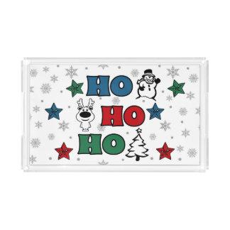 Bandeja De Acrílico Ho-Ho-Ho design do Natal