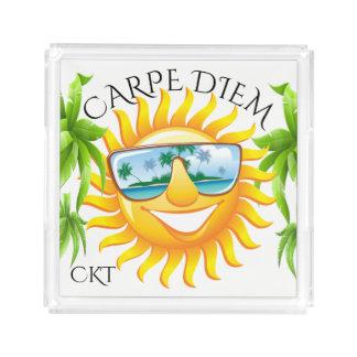 Bandeja De Acrílico #holidayZ de Sun do divertimento de Carpe Diem
