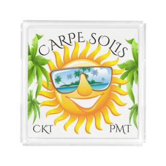 Bandeja De Acrílico #holidayZ de Sun do divertimento de Carpe Solis