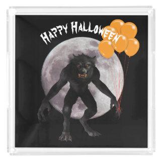 Bandeja De Acrílico Homem-lobo do Dia das Bruxas
