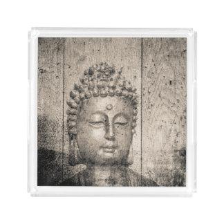 Bandeja De Acrílico Ioga de Buddha do vintage