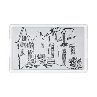 Bandeja De Acrílico La Roche-Bernard de Passeio du Ruicard  , Brittany
