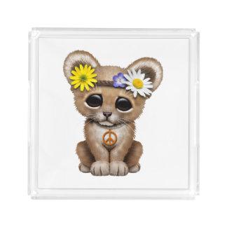 Bandeja De Acrílico Leão bonito Cub do Hippie