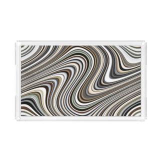 Bandeja De Acrílico Linhas onduladas - luz -