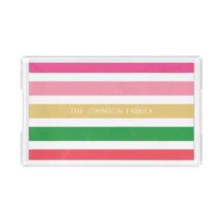 Bandeja De Acrílico Listrado horizontal formal brilhante personalizado