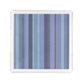 Bandeja De Acrílico listras horizontais Azul-cinzentas