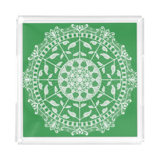 Bandeja De Acrílico Mandala da alga