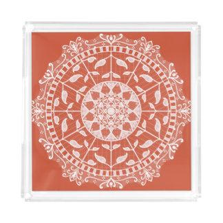 Bandeja De Acrílico Mandala do Terracotta