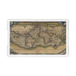 Bandeja De Acrílico Mapa antigo do mundo