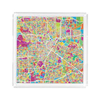 Bandeja De Acrílico Mapa de néon de Houston, Texas |
