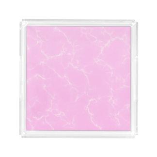 Bandeja De Acrílico Mármore elegante style5 - rosa das flores de
