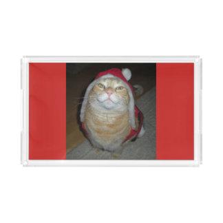 Bandeja De Acrílico Meow-y pouco Natal