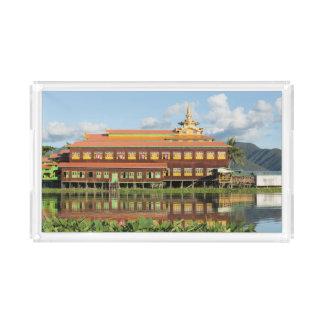 Bandeja De Acrílico Monastério por um lago