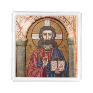Bandeja De Acrílico Mosaico antigo de Jesus