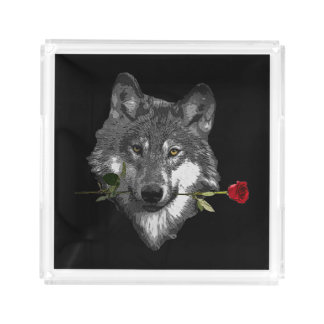 Bandeja De Acrílico O lobo aumentou
