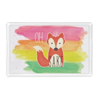 Bandeja De Acrílico Oh para listras da aguarela da causa do Fox