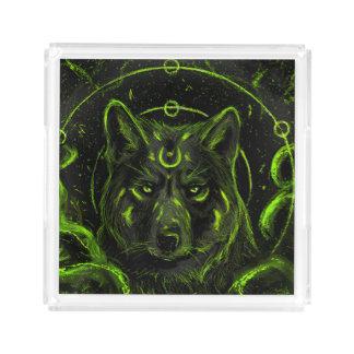 Bandeja De Acrílico Olhar legal do anime do gráfico do design do lobo