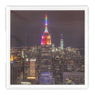 Bandeja De Acrílico Orgulho do Empire State Building