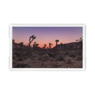 Bandeja De Acrílico Parque nacional de árvore de Joshua do por do sol