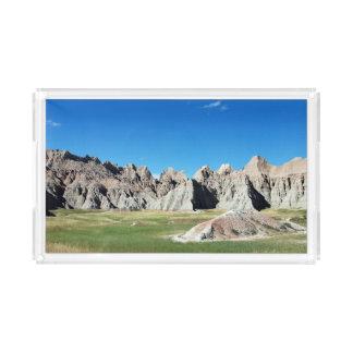 Bandeja De Acrílico Parque nacional South Dakota do ermo