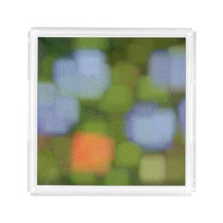 Bandeja De Acrílico Pintura abstrata multicolorido