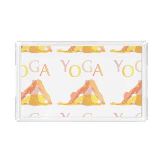 Bandeja De Acrílico Poses da ioga