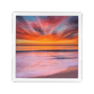 Bandeja De Acrílico Praia | Carlsbad de Tamarack do por do sol, CA