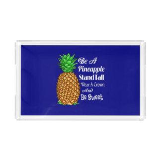 Bandeja De Acrílico Seja um desgaste que alto do suporte do abacaxi