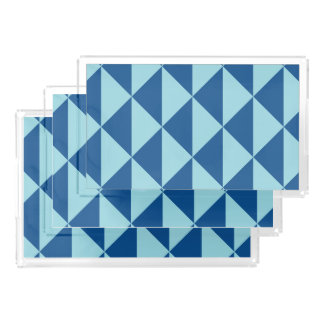 Bandeja De Acrílico Setas geométricas do azul do paraíso da ilha de