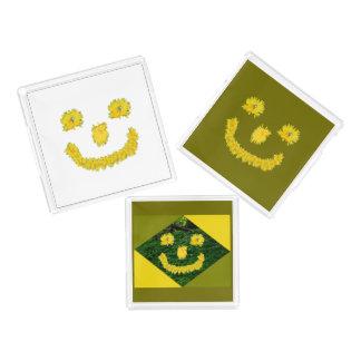 Bandeja De Acrílico Smiley face do dente-de-leão