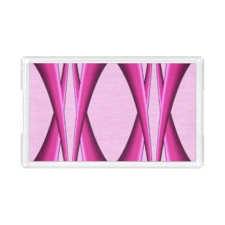 Bandeja De Acrílico Teste padrão cor-de-rosa original