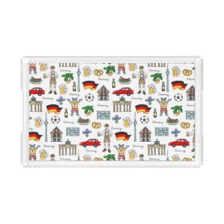 Bandeja De Acrílico Teste padrão dos símbolos de Alemanha |