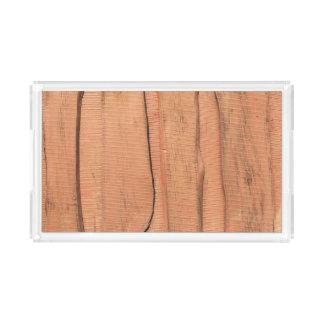 Bandeja De Acrílico Textura de madeira