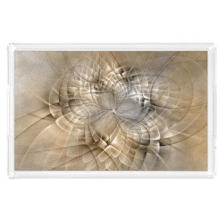 Bandeja De Acrílico Textura moderna da arte do Fractal do abstrato dos