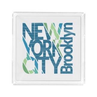 Bandeja De Acrílico Tipografia de Brooklyn New York