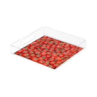 Bandeja De Acrílico Tomates vermelhos da videira