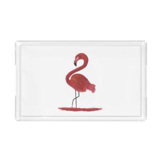 Bandeja De Acrílico Trabalhos de arte do flamingo
