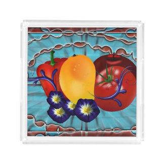 Bandeja De Acrílico Vegetais de frutas