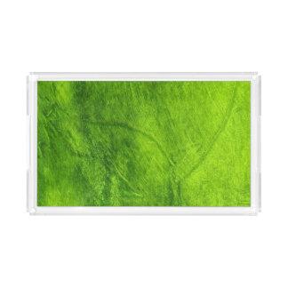 Bandeja De Acrílico Verde Textured