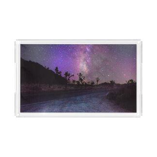 Bandeja De Acrílico Via Láctea do parque nacional de árvore de Joshua