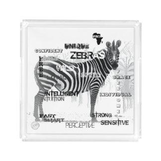 Bandeja De Acrílico Zebras originais