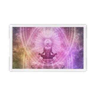 Bandeja De Acrílico Zen espiritual da meditação da ioga colorido