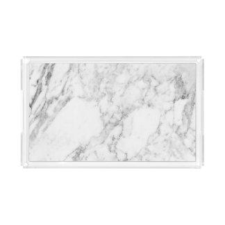 Bandeja de mármore da vaidade - retângulo pequeno
