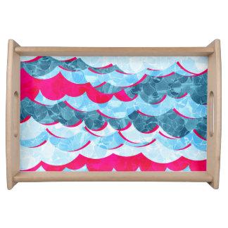 Bandeja Design abstrato das ondas do mar