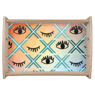 Bandeja Design colorido original dos olhos