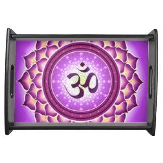 Bandeja Design do teste padrão de Chakra da coroa