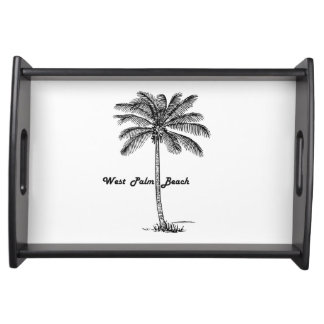 Bandeja Design preto e branco de West Palm Beach & de