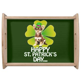 Bandeja Dia bonito de St Patrick do chapéu do filhote de