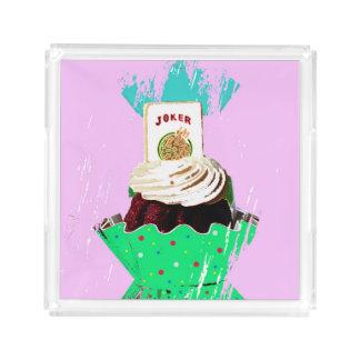 Bandeja do cupcake do palhaço do Mah Jongg