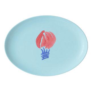 Bandeja do cupé da porcelana do balão de ar